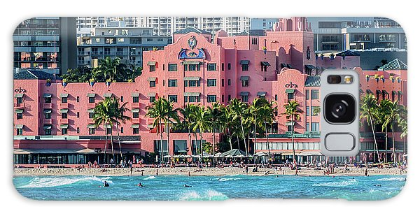 Royal Hawaiian Hotel Surfs Up Galaxy Case