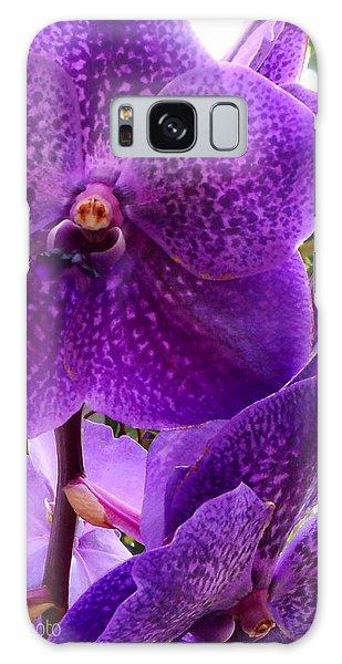 Royal Purple Orchids Galaxy Case