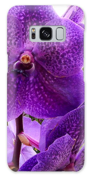 Royal Purple Orchids Galaxy Case