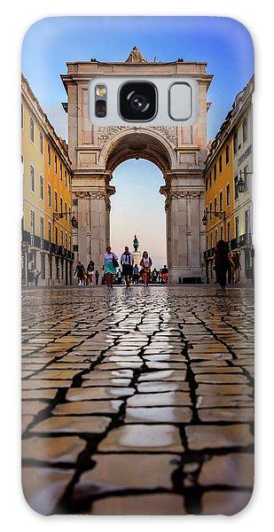 Rua Augusta Arch Lisbon Galaxy Case by Carol Japp