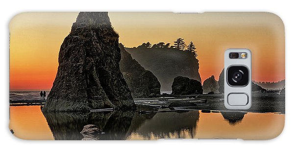 Ruby Beach At Sunset Galaxy Case