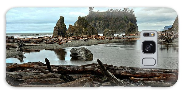 Ruby Beach Driftwood Galaxy Case