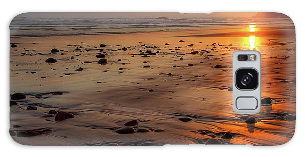 Ruby Beach Sunset Galaxy Case by David Chandler