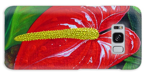 Ruby Holiday Galaxy Case by Debbie Chamberlin