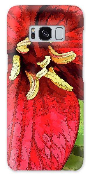 Ruby Red Trillium Galaxy Case