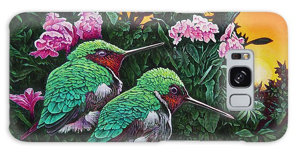 Ruby-throated Hummingbirds Galaxy Case by Michael Frank