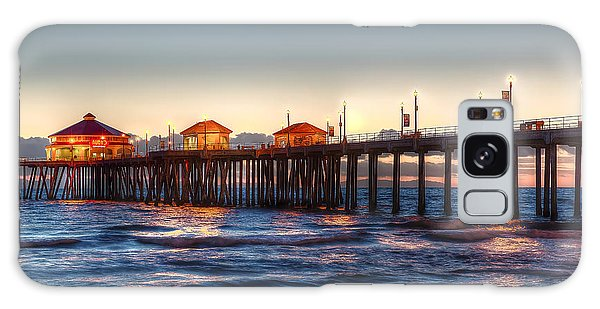 Ruby's Surf City Diner At Twilight - Huntington Beach Pier Galaxy Case by Jim Carrell