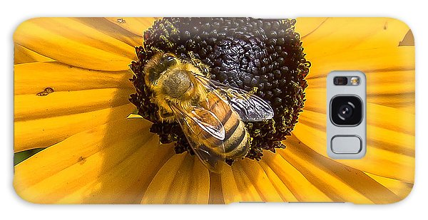 Rudbeckia With Bee Galaxy Case