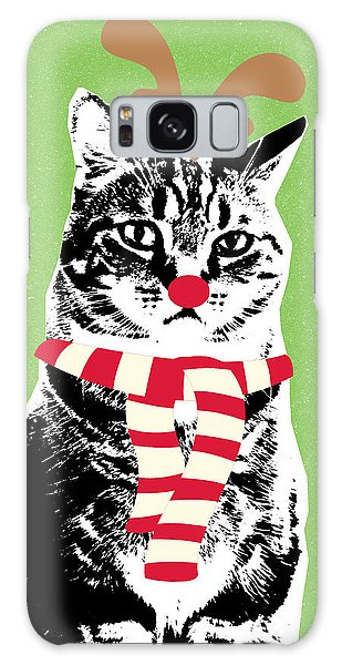 Scarf Galaxy Case - Rudolph The Red Nosed Cat- Art By Linda Woods by Linda Woods