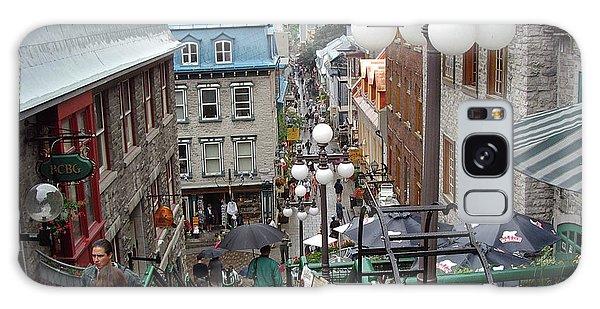 Galaxy Case featuring the photograph rue du Petit Champlain by John Schneider