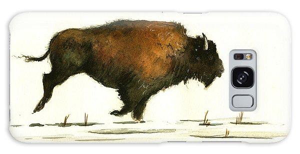 Buffalo Galaxy Case - Running Buffalo by Juan  Bosco