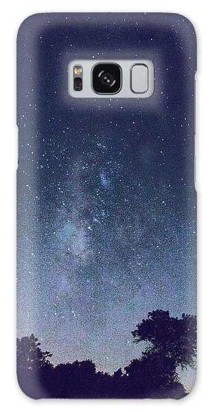 Running Dog Tree And Galaxy Galaxy Case by Carolina Liechtenstein