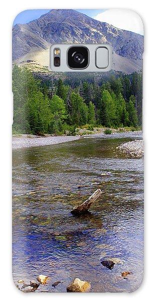 Running Eagle Creek Glacier National Park Galaxy Case