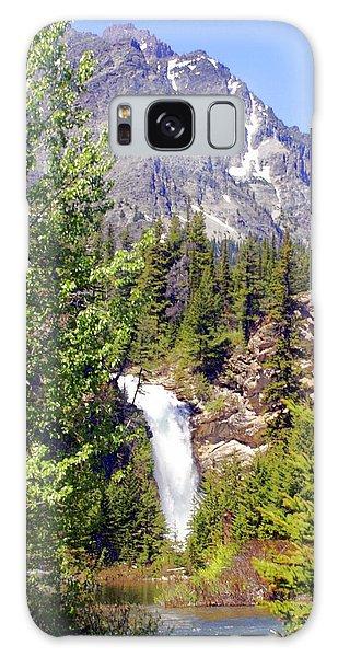 Running Eagle Falls Glacier National Park Galaxy Case