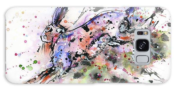 Running Hare Galaxy Case by Zaira Dzhaubaeva