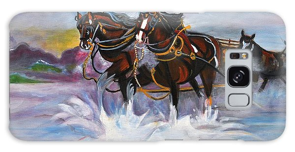 Running Horses- Beach Gallop Galaxy Case