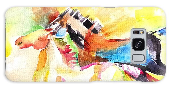 Running Horses Color Galaxy Case