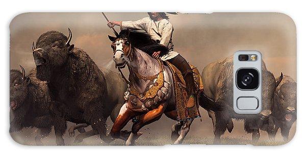 Western Galaxy Case - Running With Buffalo by Daniel Eskridge