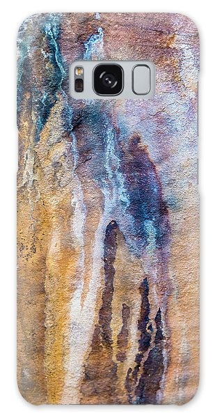 Galaxy Case featuring the photograph Runoff Abstract, Bhimbetka, 2016 by Hitendra SINKAR