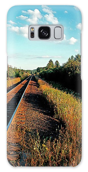Rural Country Side Train Tracks Galaxy Case
