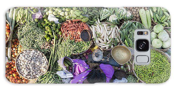Rural Indian Vegetable Market Galaxy Case by Tim Gainey