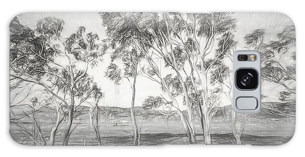 Expanse Galaxy Case - Rural Landscape Pencil Sketch by Jorgo Photography - Wall Art Gallery