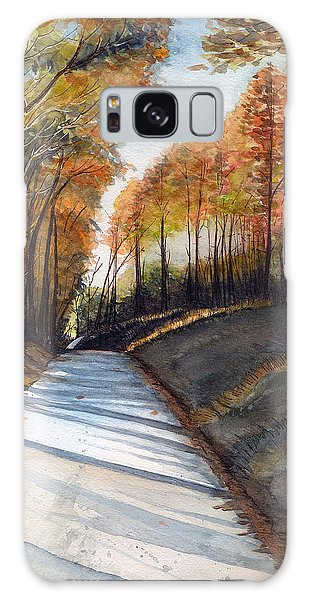 Rural Route In Autumn Galaxy Case