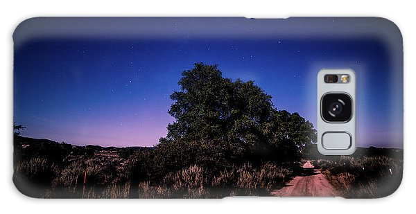 Rural Starlit Road Galaxy Case