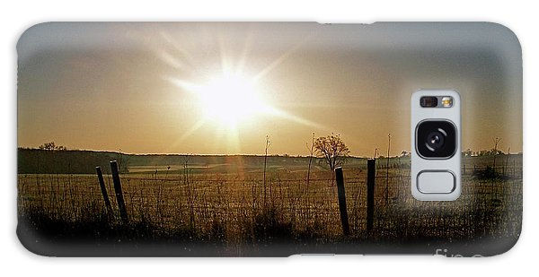 Rural Sunrise Galaxy Case by Sue Stefanowicz