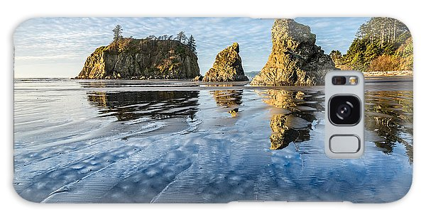 Sea Stacks Galaxy Case - Ruby Beach Reflection by Jamie Pham