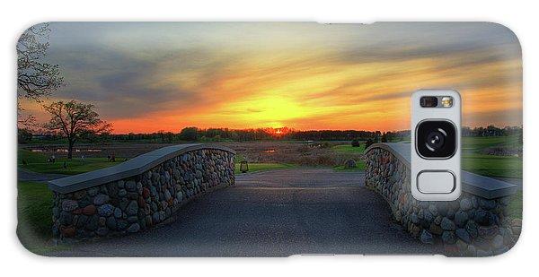 Rush Creek Golf Course The Bridge To Sunset Galaxy Case