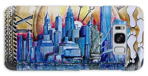 Rush Hour In New York  Galaxy Case by Geni Gorani