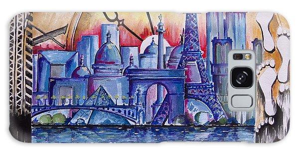 Rush Hour In Paris Galaxy Case by Geni Gorani