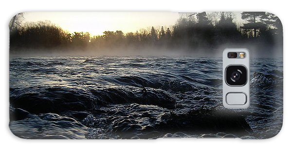 Rushing Water In Missississippi River Galaxy Case by Kent Lorentzen