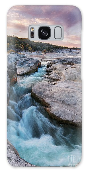 Rushing Waters At Pedernales Falls State Park - Texas Hill Country Galaxy Case