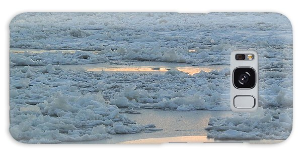 Russian Waterway Frozen Over Galaxy Case by Margaret Brooks