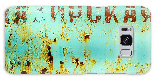 Rust On Metal Russian Letters Galaxy Case by John Williams