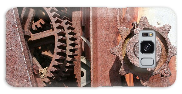 Galaxy Case featuring the photograph Rusted Gears by Dylan Punke