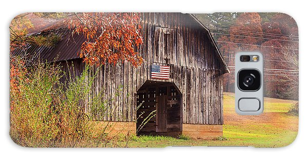Rustic Barn In Autumn Galaxy Case