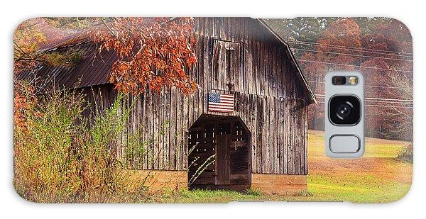 Galaxy Case featuring the photograph Rustic Barn In Autumn by Doug Camara