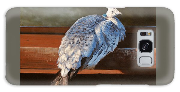 Rustic Elegance - White Peahen Galaxy Case