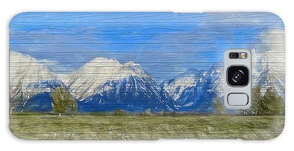 Rustic Grand Teton Range On Wood Galaxy Case by Dan Sproul