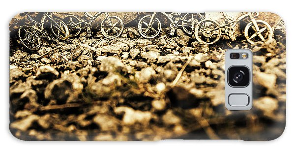 No-one Galaxy Case - Rustic Mountain Bikes by Jorgo Photography - Wall Art Gallery