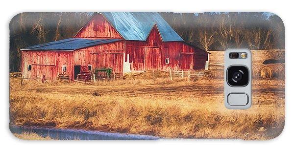 Rustic Red Barn Galaxy Case