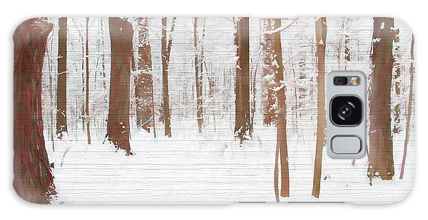 Rustic Winter Forest Galaxy Case by Dan Sproul