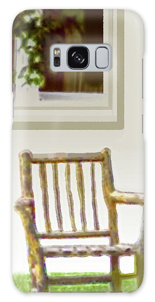 Rustic Wooden Rocking Chair Galaxy Case