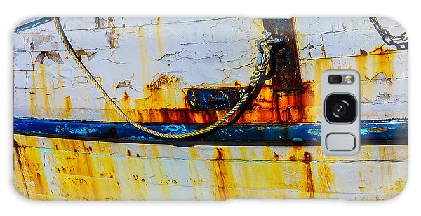 Rusty Chain Galaxy Case - Rusting Fishing Boat Detail by Garry Gay