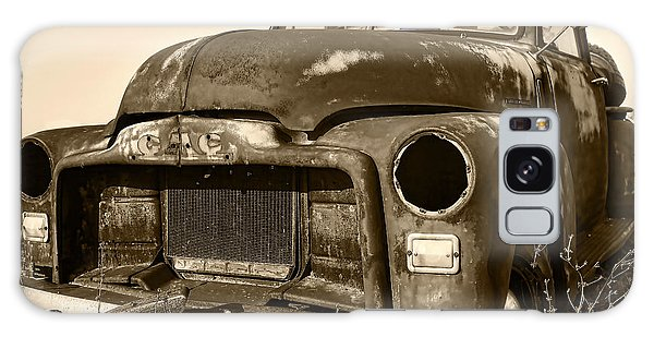 Rusty But Trusty Old Gmc Pickup Truck - Sepia Galaxy Case