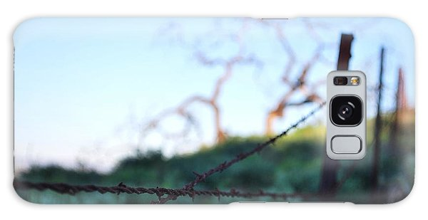 Galaxy Case featuring the photograph Rusty Gate Rural Tree 2 by Matt Harang