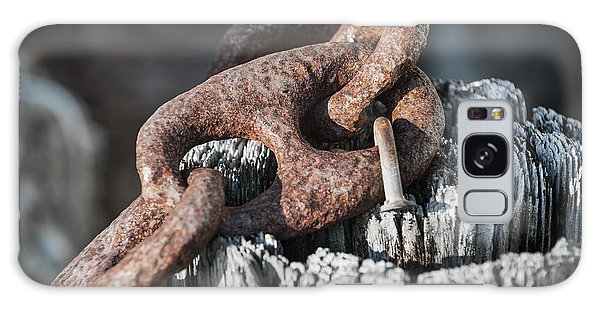 Rusty Chain Galaxy Case - Rusty Iron Chain Railing Fragment by Elena Elisseeva